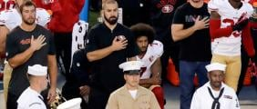 Colin Kaepernick will continue to protest the national anthem during 49ers games. (AP)