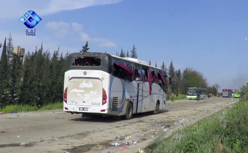 Explosion killed 100 people in attack near buses carrying Syrians evacuees