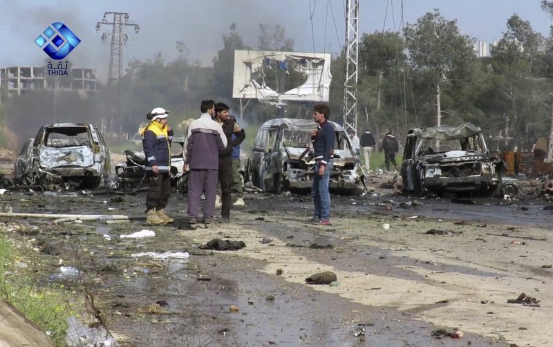 At least 126 killed in Aleppo bus convoy bomb attack