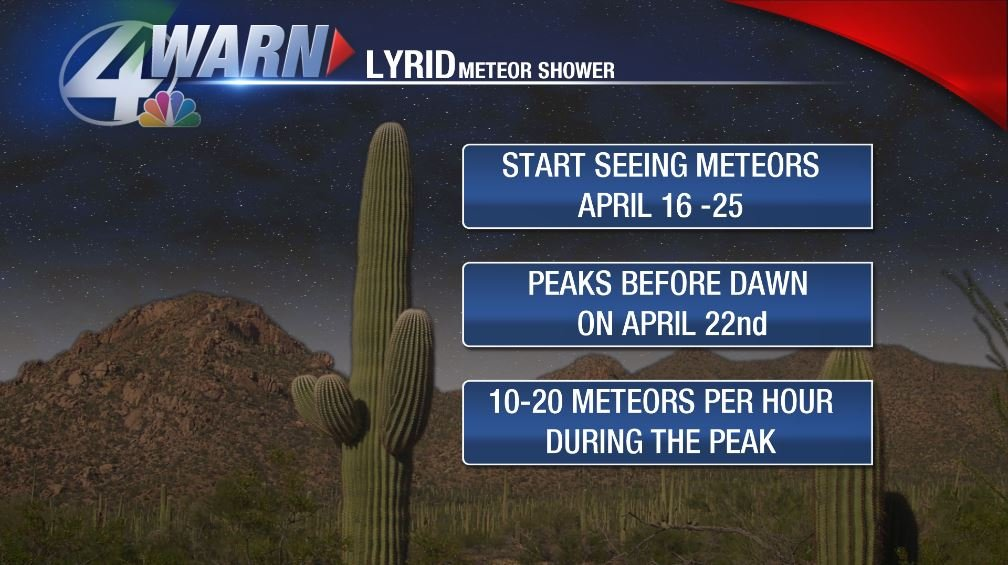 Lyrid meteor showers expected to peak on Saturday