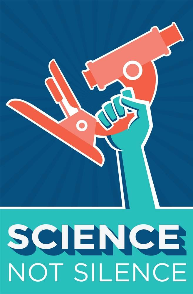 Official poster apart of Science March on DC 2017.