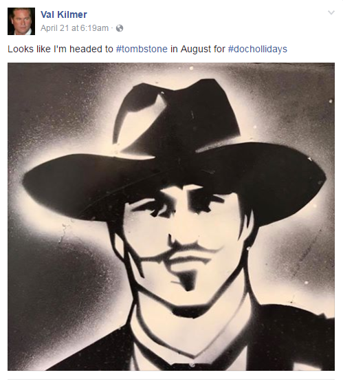File photo from Val Kilmer's Facebook