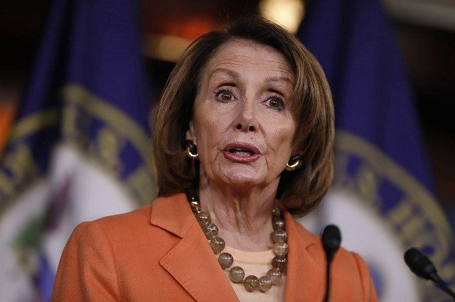 House Minority Leader Nancy Pelosi holds her weekly press briefing on Capitol Hill on March 2.Aaron P. Bernstein / Getty Images via NBC