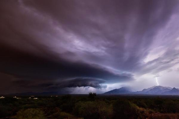 Monsoon storm over the Santa Rita Mountains. Courtesy: Mike Olbinski