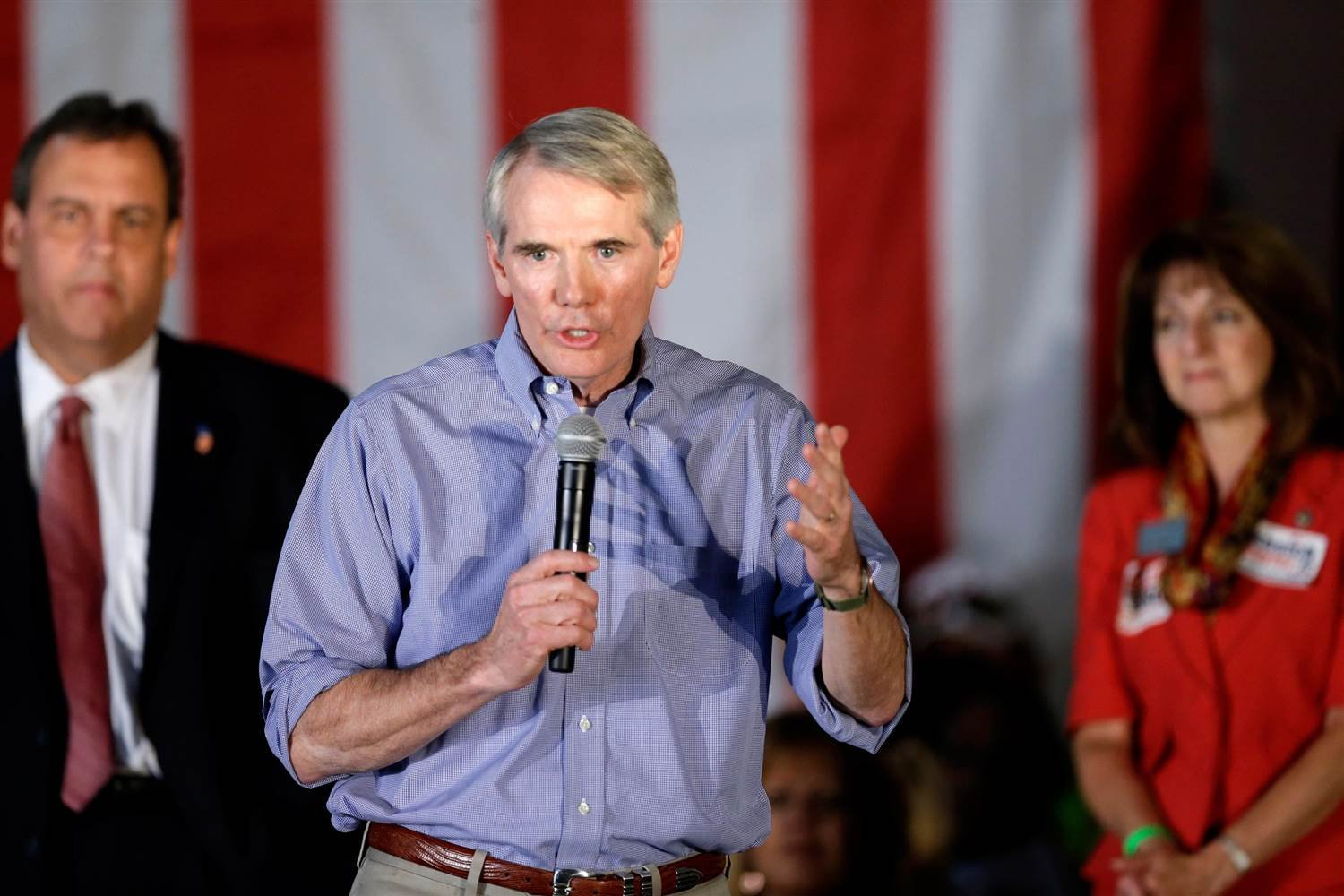 Sen. Rob Portman, R-Ohio, speaks at a GOP Get Out the Vote rally in Independence, Ohio Monday, Sept. 29, 2014. - AP Photo/Mark Duncan
