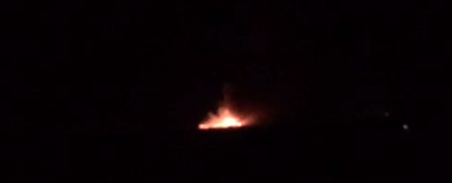 A trash fire is burning at the Los Reales Landfill, 7161 South Craycroft Road.