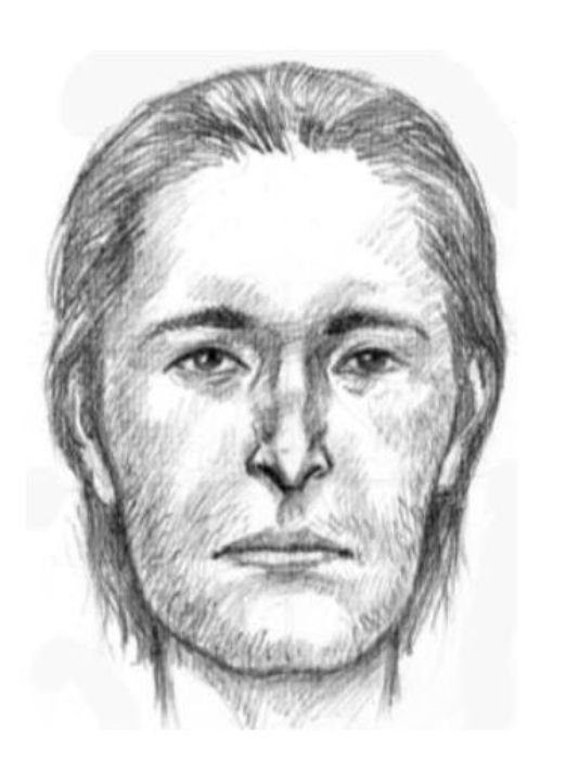 Sketch issued by authorities of male found deceased in Tempe Town Lake. (Tempe Police Dept.)