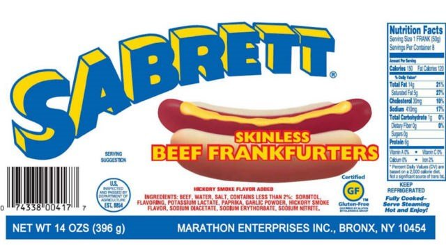 Over 7 million pounds of Sabrett hot dog products recalled