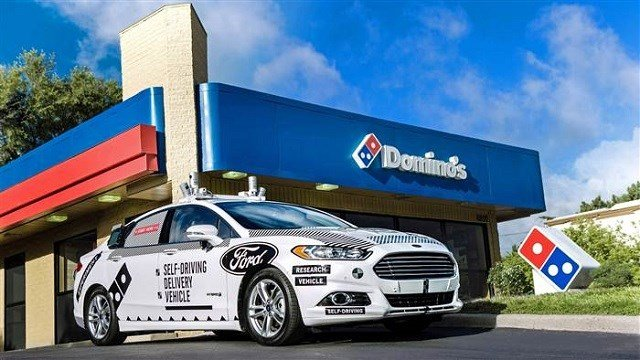Making pizza deliveries with self-driving cars