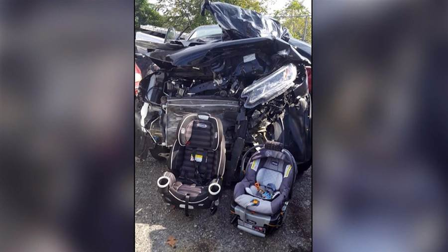 Mom's image of horrific auto accident shows the importance of vehicle seats