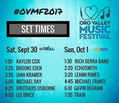 Oro Valley Music Festival Lineup