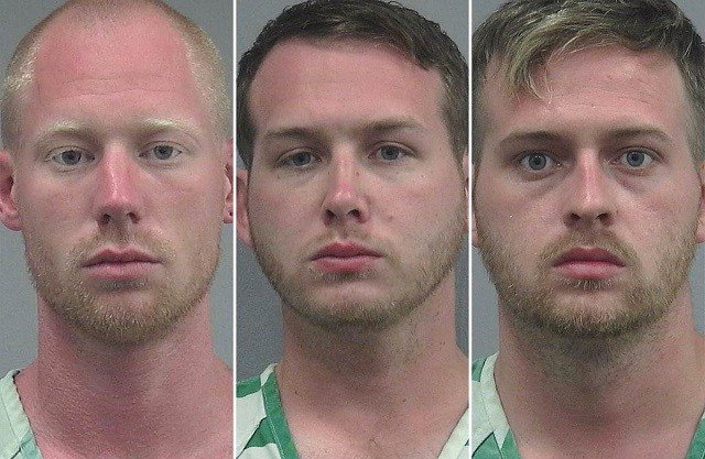 Tyler Tenbrink (from left), William Fears and Colton Fears. Gainesville Police Department photo via NBC
