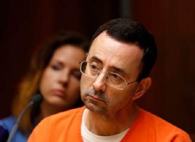 Larry Nassar agreed to a minimum sentence of 25 years. JEFF KOWALSKY / AFP - Getty Images