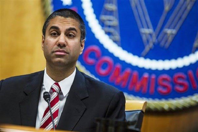 Ajit Pai, chairman of the Federal Communications Commission; Zach Gibson / Bloomberg via Getty Images file via NBC
