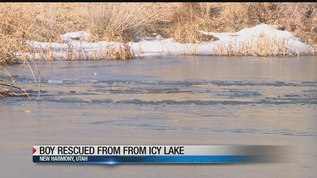 Deputy punches through iced-over pond to rescue drowning 8-year-old