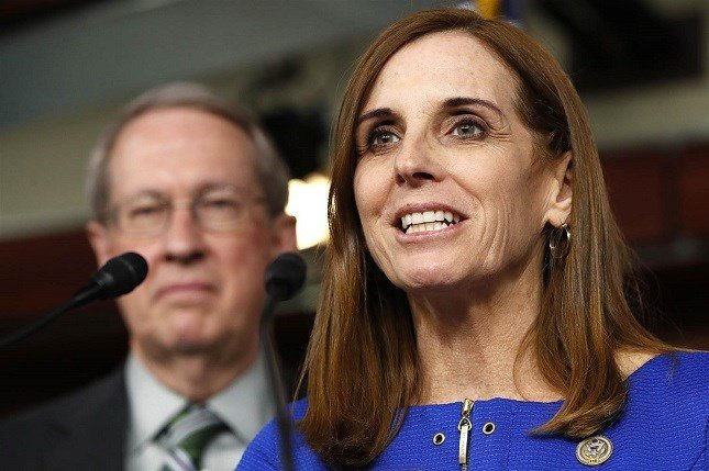 House Homeland Security Border and Maritime Security Subcommittee Chairwoman Rep. Martha McSally (R-AZ) speaks during a news conference on Jan. 10, 2018. Jacquelyn Martin / AP via NBC