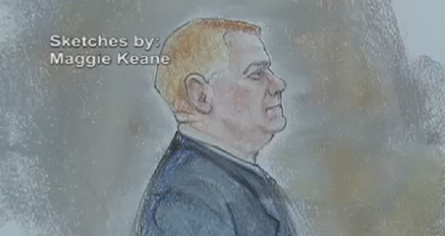 "Former U.S. Border Patrol Agent Lonnie Ray Swartz faces second-degree murder charges in ""use of force"" case. (Sketch by: Maggie Keane)"
