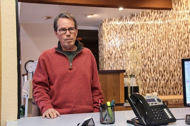Marc Grant, a doctor of osteopathic medicine, runs a buprenorphine and pain management clinic in Payson. His patients come from all across Gila County, which has an above average rate of neonatal abstinence syndrome. Photo by Claire Cleveland/AZCIR