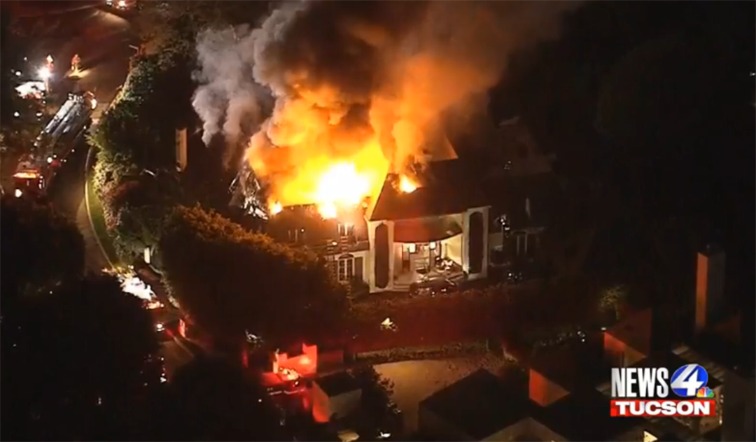 Spectacular Fire Destroys 2-Story Bel Air Mansion