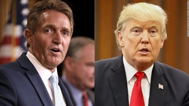 Senator Jeff Flake calls for Trump to face 2020 primary challenge