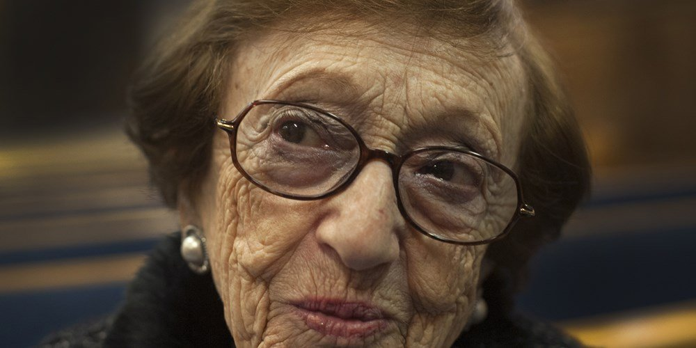 "Sonia Klein, now 92, survived Auschwitz and Majdanek concentration camps. ""We are not here forever,"" she said of the dwindling number of fellow survivors. - Debbie Egan-Chin / NY Daily News via Getty Images file"