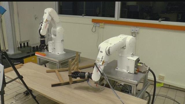 Robots assembled IKEA furniture