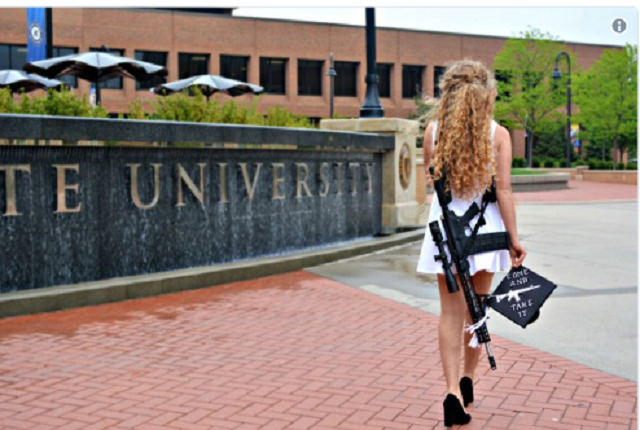 Female Kent State Graduate Carries AR-10 on Campus