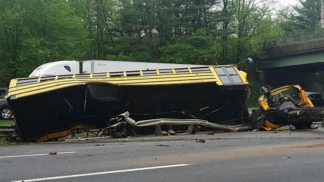 Bus driver in fatal NJ crash charged in deaths of teacher, student