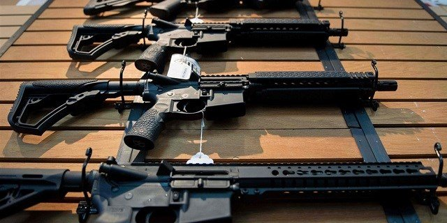 Assault rifles for sale in Virginia.Jim Watson / AFP - Getty Images file (NBC News)