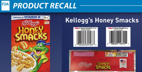 Kellogg recalls cereal for possible Salmonella