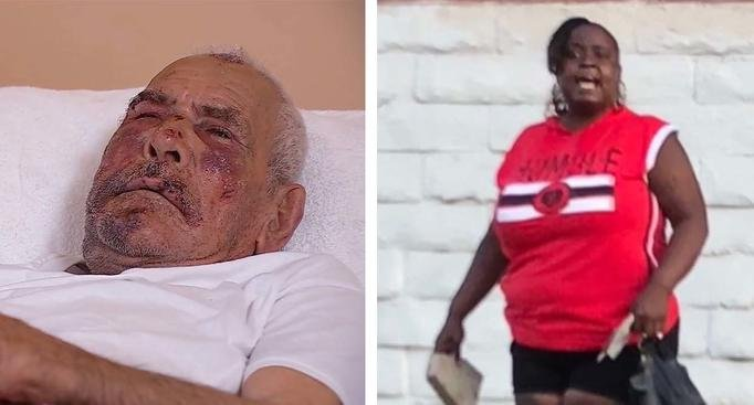 Woman arrested in beating of 92-year-old man on sidewalk