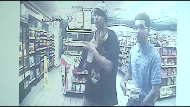 Surveillance cameras captured Delgado and Oscar Bringas going behind the counter and stealing the merchandise from Circle K.