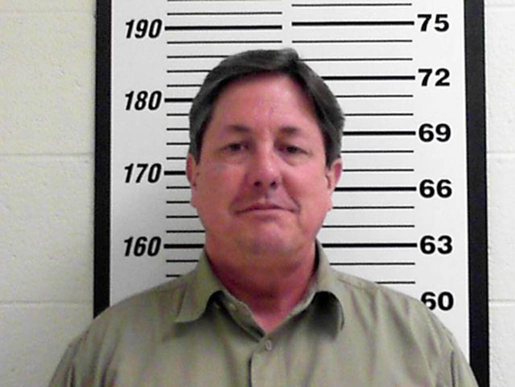 Lyle Jeffs in a booking photo released by the Davis County, Utah Jail. Courtesy of Davis County Jail via AP