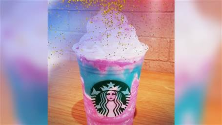 From Rainbow Grilled Cheese Sandwiches To Unicorn Hot Chocolate This Magical Culinary Club Is Getting Another Member The Starbucks Frappuccino