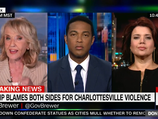 Former Arizona Gov. Jan Brewer appears on Don Lemon's show. (Photo: CNN screenshot)