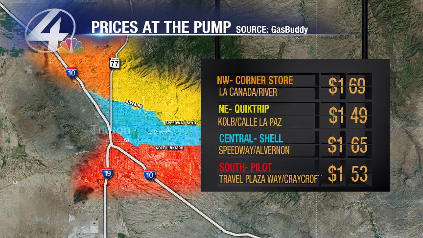 Tucson Gas Prices >> Prices At The Pump Thursday January 21 Kvoa Kvoa Com Tucson